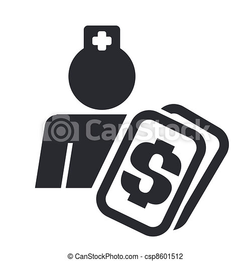 Vector illustration of single isolated medical cost icon - csp8601512