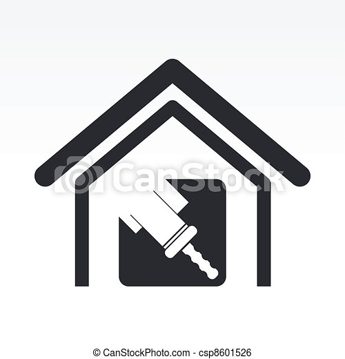 Vector illustration of single isolated home paint icon - csp8601526