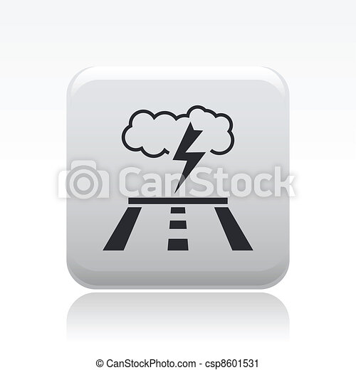 Vector illustration of single isolated road forecast icon - csp8601531