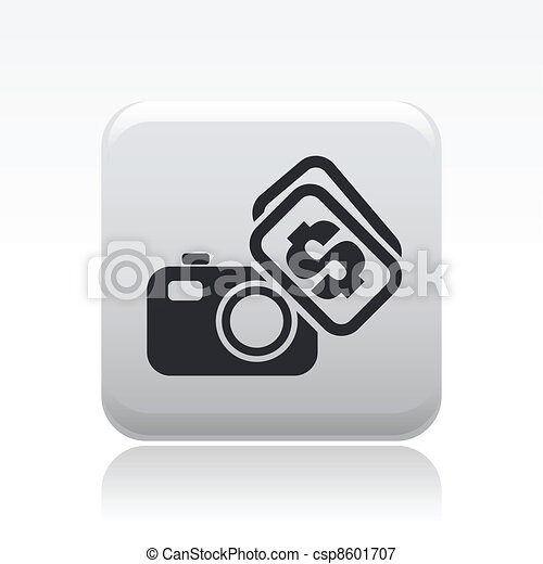 Vector illustration of single isolated photo sell icon - csp8601707