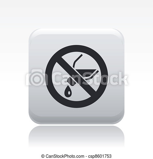 Vector illustration of single isolated no pour liquid icon - csp8601753