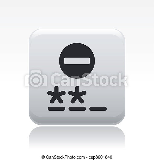 Vector illustration of single isolated password icon - csp8601840