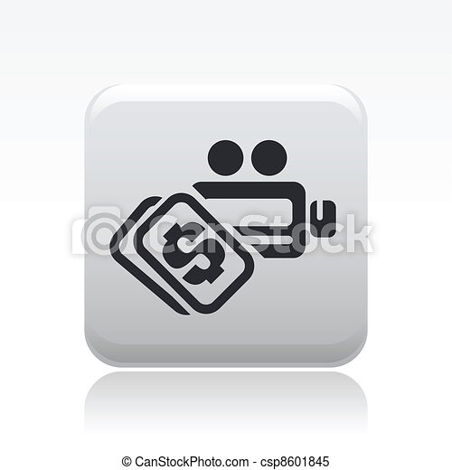 Vector illustration of single isolated video pay icon - csp8601845