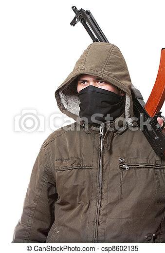 Terrorist with weapon - csp8602135