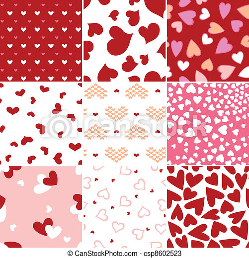 heart love repeated pattern - csp8602523