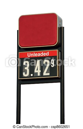 Gasoline Price Sign - csp8602651