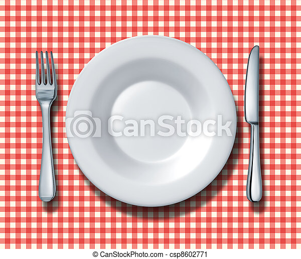 Family Restaurant Place Setting - csp8602771