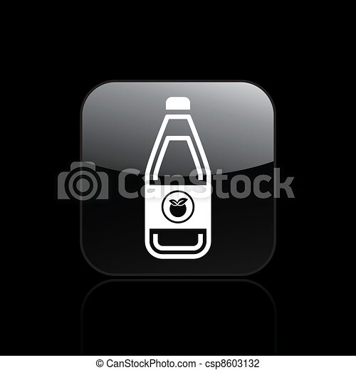 Vector illustration of single isolated juice icon  - csp8603132