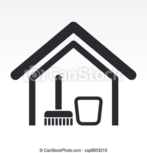 Vector illustration of single isolated clean house icon - csp8603219