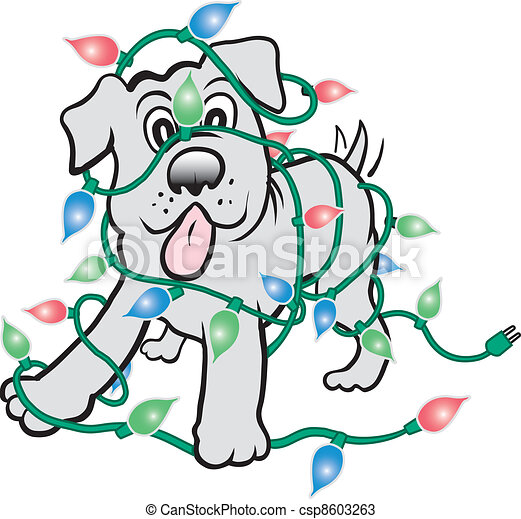 Christmas Puppy Drawing Christmas Puppy Csp8603263