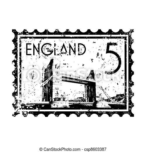 Vector illustration of single isolated London print icon  - csp8603387