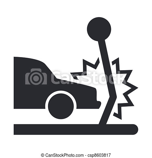 Vector illustration of single isolated car crash icon  - csp8603817