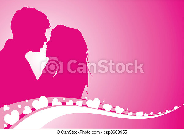 Vector illustration of lovers background - csp8603955