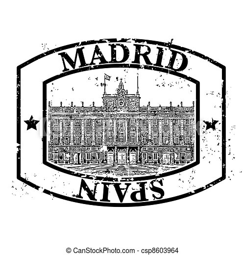 Vector illustration of single isolated madrid icon  - csp8603964