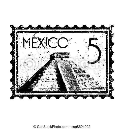 Vector illustration of single isolated Mexico icon  - csp8604002