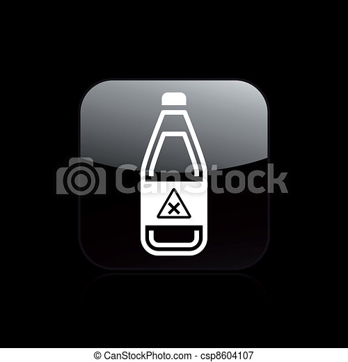 Vector illustration of single isolated danger bottle icon - csp8604107