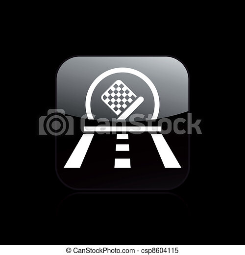 Vector illustration of single isolated car race icon  - csp8604115