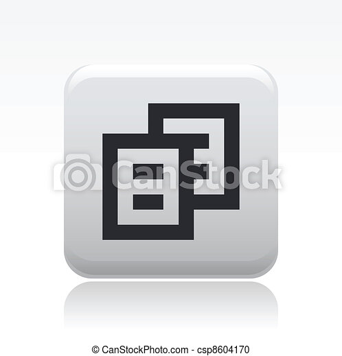Vector illustration of single isolated pixel copy icon - csp8604170