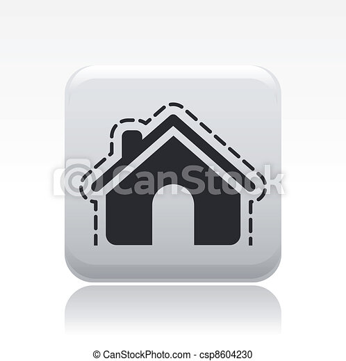 Vector illustration of single isolated house protection icon - csp8604230