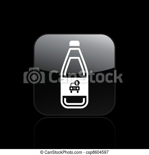 Vector illustration of single isolated car liquid icon - csp8604597