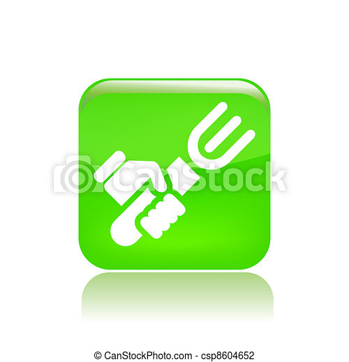Vector illustration of single isolated food icon  - csp8604652