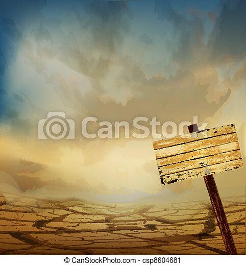 vector desert landscape - csp8604681
