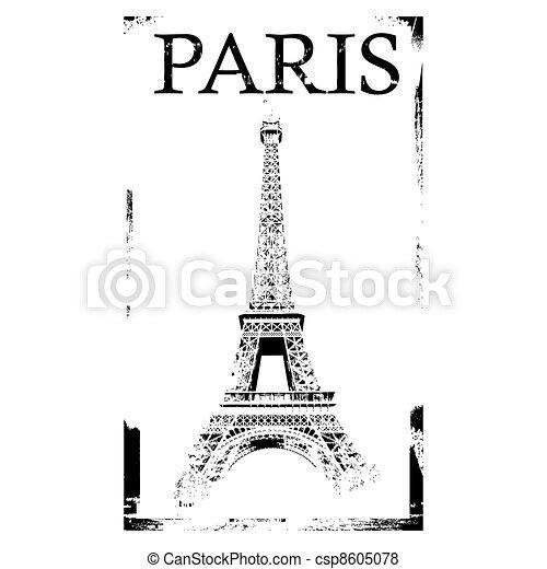 Vector illustration of single isolated Paris icon - csp8605078