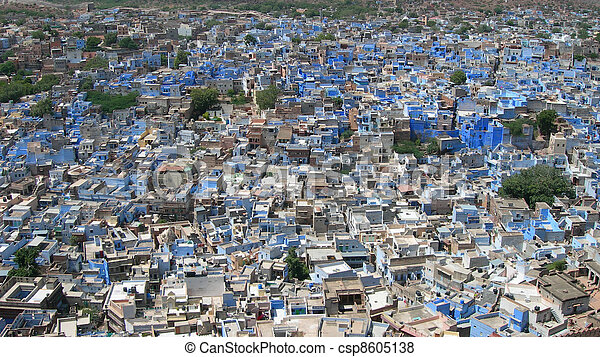Aerial of city in India - csp8605138