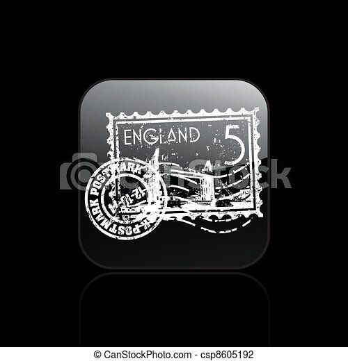 Vector illustration of single isolated England icon - csp8605192