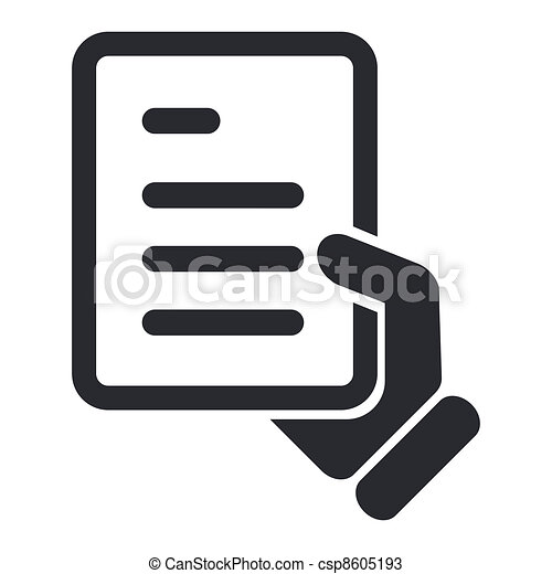 Vector illustration of single isolated document icon - csp8605193