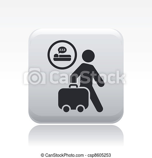 Vector illustration of single isolated hotel icon - csp8605253