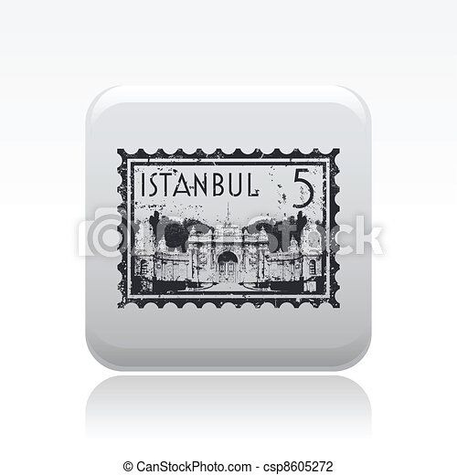 Vector illustration of single isolated Istanbul icon - csp8605272