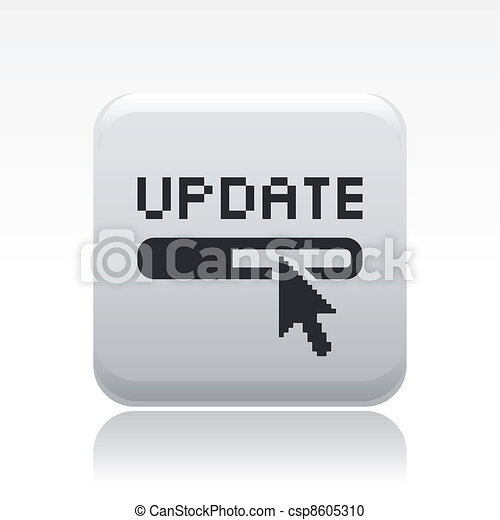 Vector illustration of single isolated update icon - csp8605310