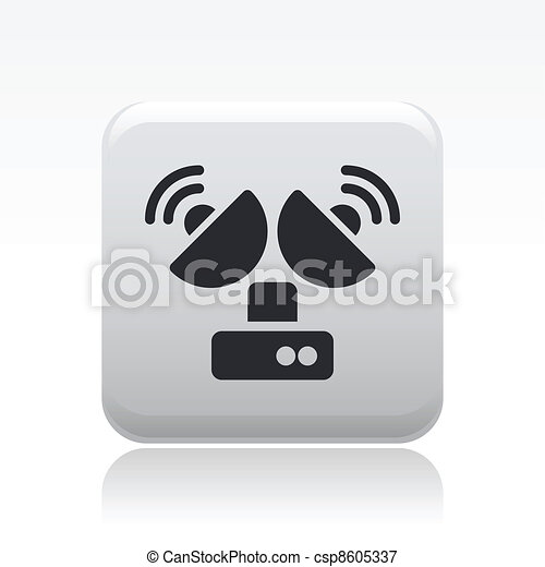 Vector illustration of single isolated antenna icon - csp8605337