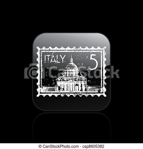 Vector illustration of single isolated Rome icon - csp8605382