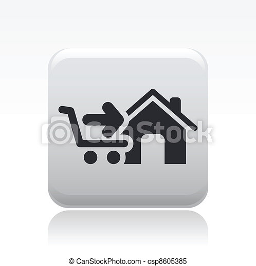 Vector illustration of single isolated store icon - csp8605385