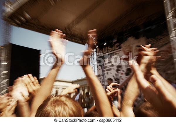 rock concert - csp8605412
