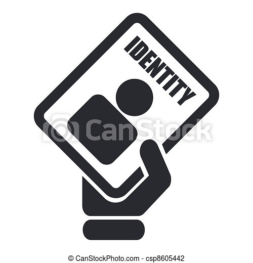 Vector illustration of single isolated ID card icon - csp8605442