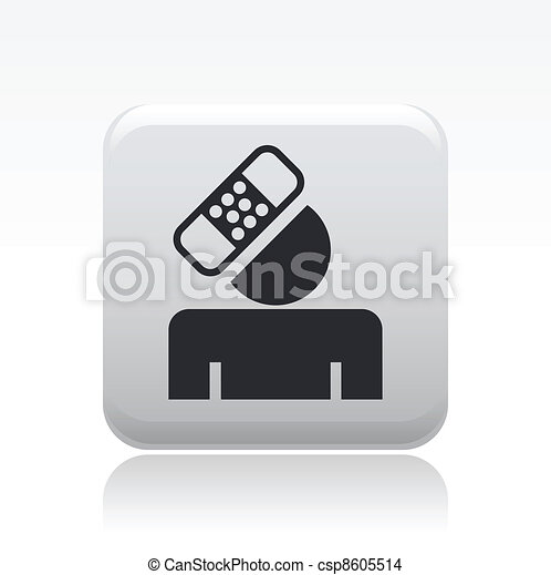 Vector illustration of single isolated accident icon - csp8605514