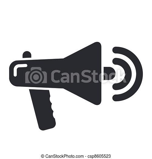 Vector illustration of single isolated megaphone icon - csp8605523