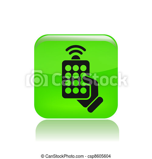 Vector illustration of single isolated remote icon - csp8605604