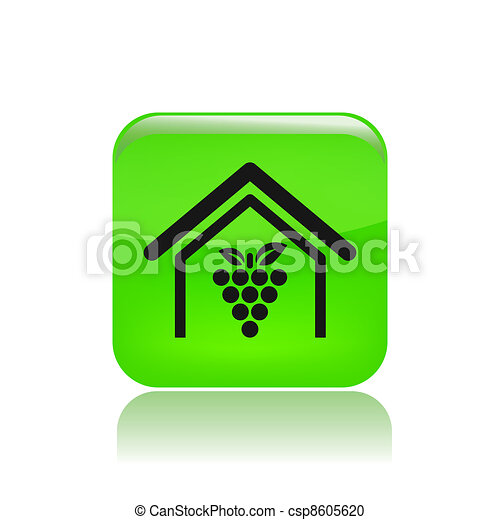 Vector illustration of single isolated wine production icon - csp8605620