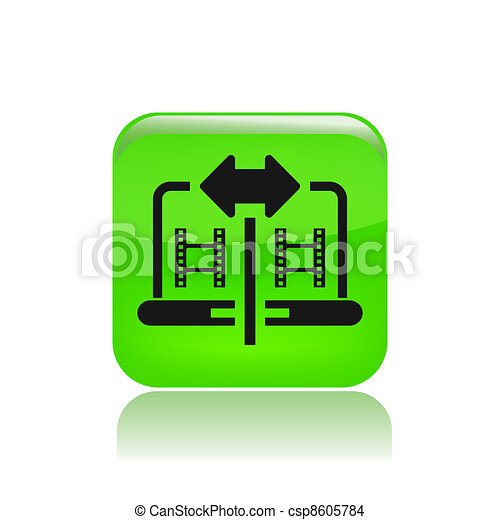Vector illustration of single isolated film sharing icon - csp8605784