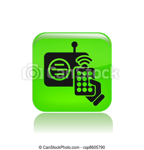 Vector illustration of single isolated remote radio icon - csp8605790