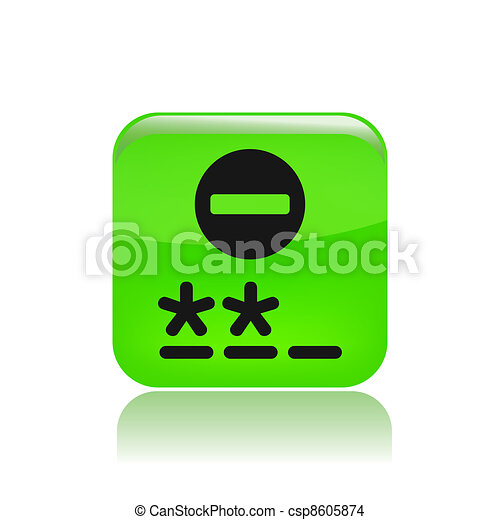 Vector illustration of single isolated password icon - csp8605874