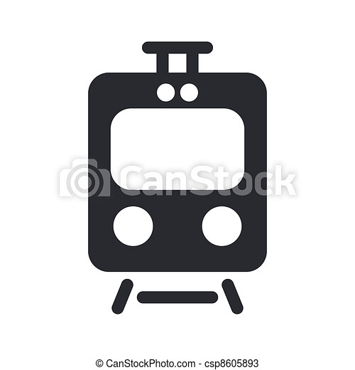 Vector illustration of single isolated train icon - csp8605893