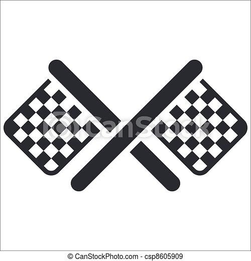 isolated race flag icon  Race Flag Icon