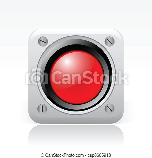 Vector illustration of single isolated red signal icon - csp8605918