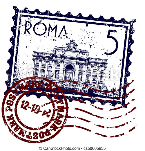 Vector illustration of single isolated Rome icon - csp8605955