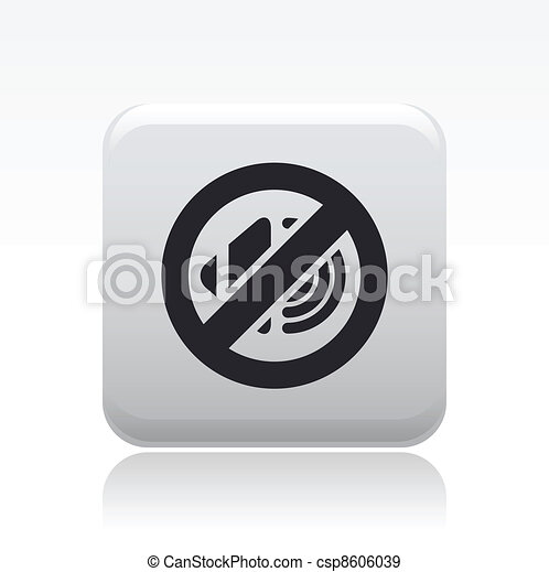Vector illustration of single isolated audio icon - csp8606039